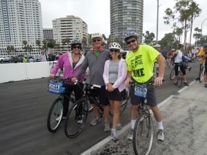 Start of the Long Beach Bike Tour