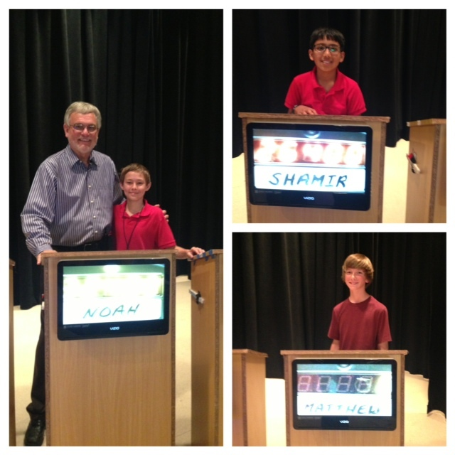 Contestants from the 2013 Stanford Middle School Jeopardy Championship