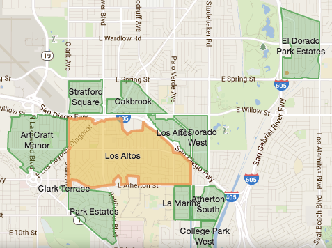 Nextdoor neighbor maps in Long Beach