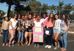 Girls worked all morning helping raise funds for scholarships