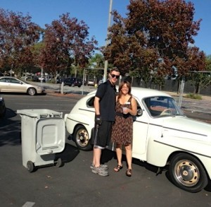 Shred Stuff in a Cool 1964 Volvo - Michele K & Dave