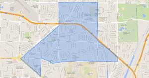 Map of Los Altos area of Long Beach