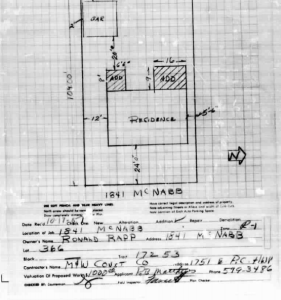 Los Altos Home permit from 1967