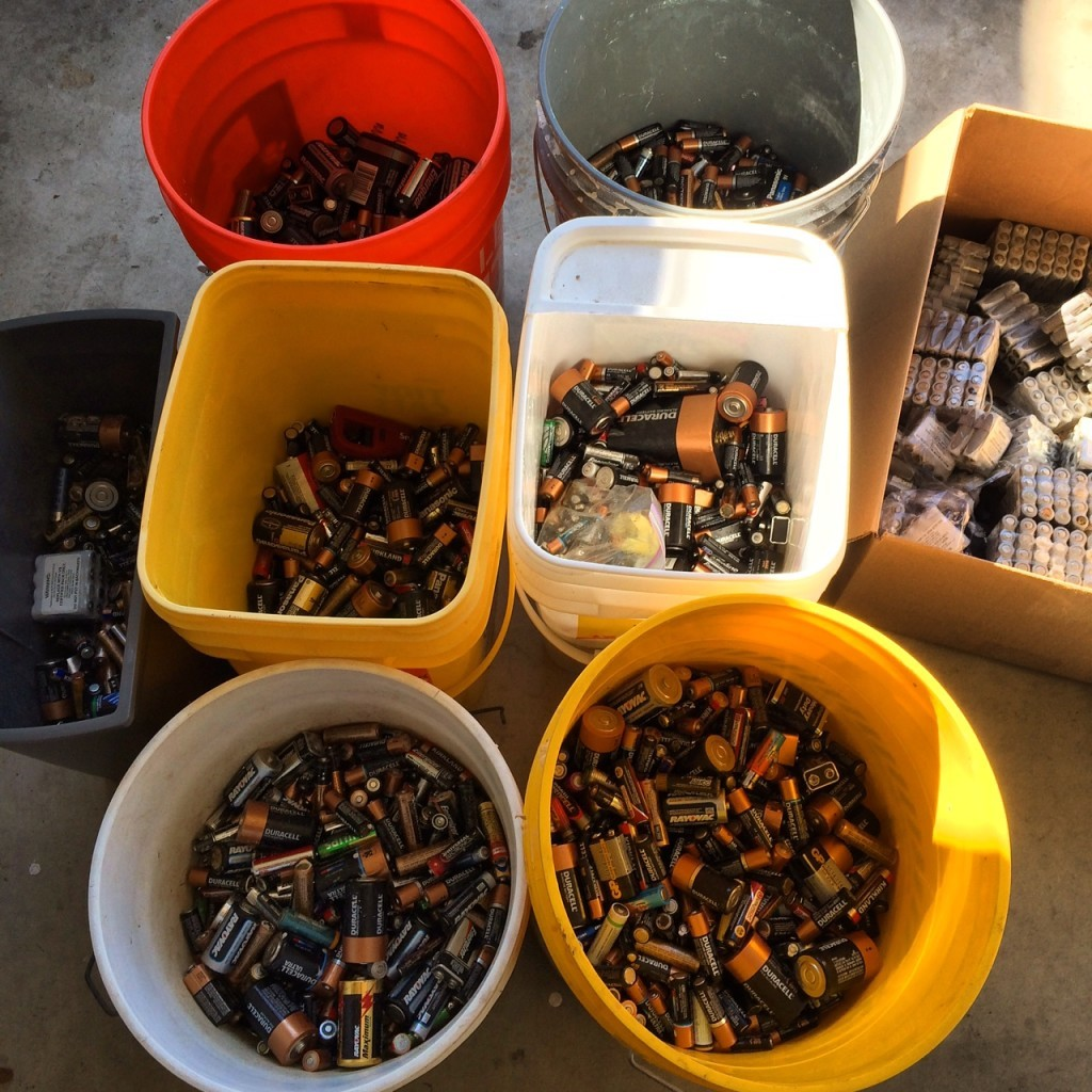 Many batteries to Recycle