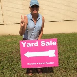 Peace and Karen D at the Park Estates Yard Sale