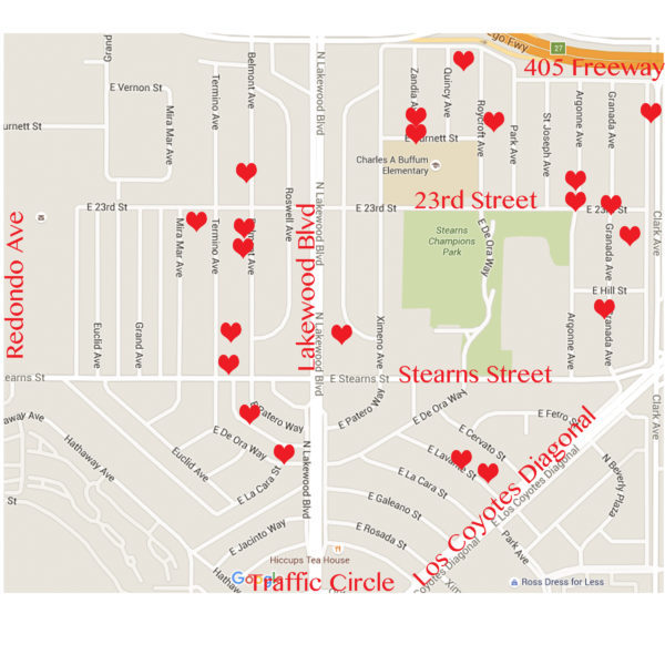 Artcraft Manor Yard Sale Map 2016