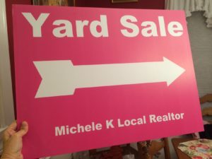 Yard Sale Sign Michele K