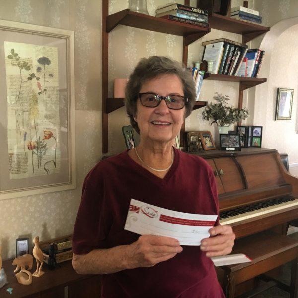 Deanna Wins Long Beach Gift Certificate