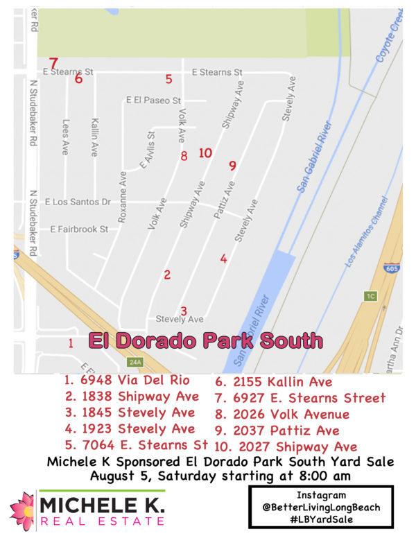 Yard Sale Map El Dorado Park South 2017