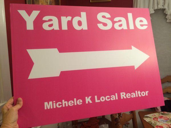 Yard Sale Sign Michele K